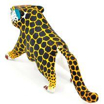 "Handmade Alebrijes Oaxacan Painted Wood Folk Art Leopard Jaguar 7"" Figurine image 3"