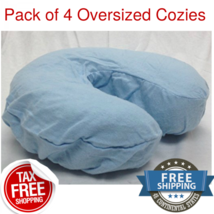 4 Blue Oversized Flannel Face Cradle Covers 4 Soft Cotton Deluxe Flannel... - $12.82