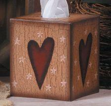 Tissue Box Cover Paper Mache' 3tb001-Heart Kleenex Box Cover - $6.95