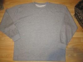 Gray Long sleeve fleece sweat shirt Mens Heather Gray Fleece Sweater 2XL - $10.00