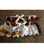 Washington Redskins Football NFL Wedding Bridal Garters Set Ivory trim l... - $28.00