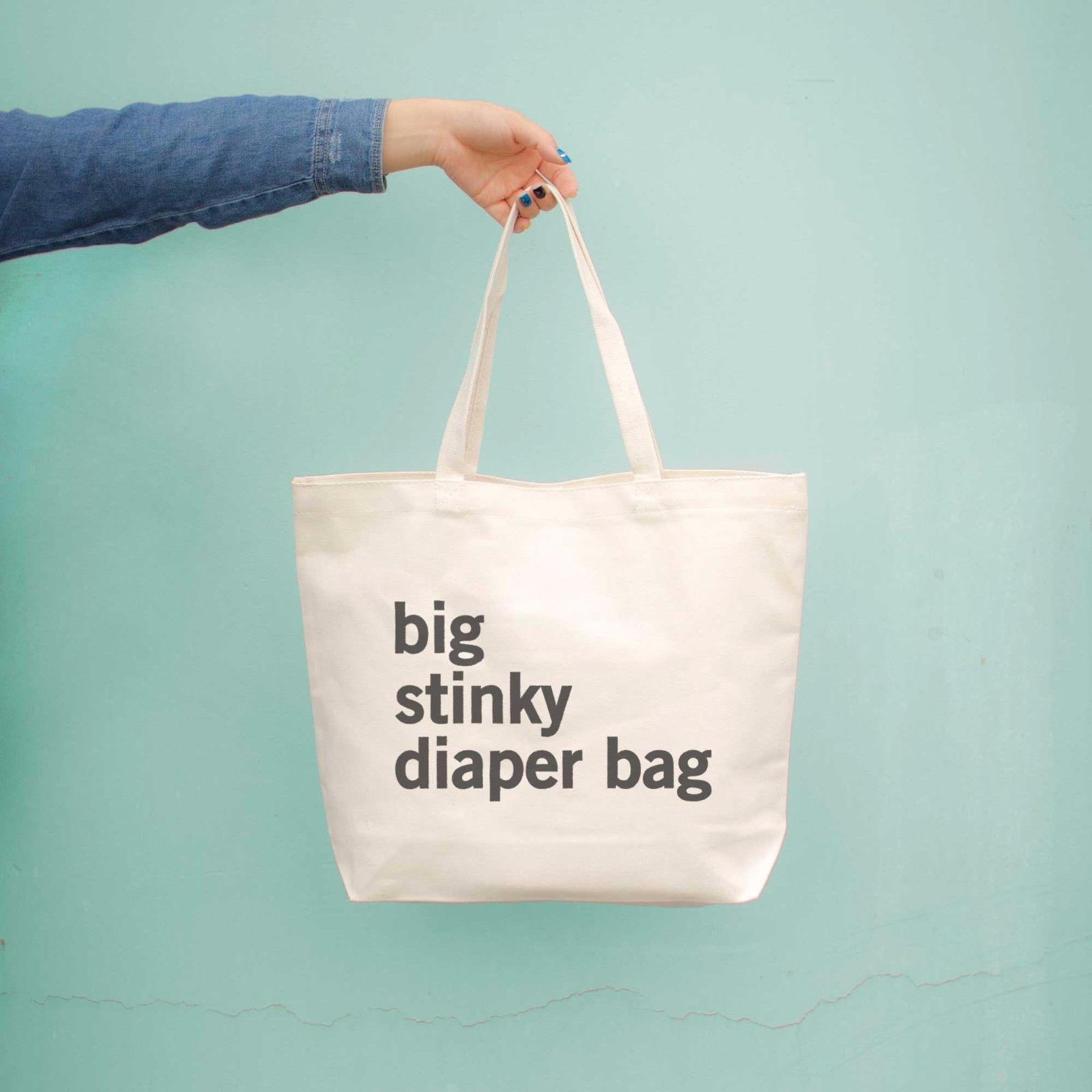 Big Stinky Diaper Bag Baby Shower Or Mother's Day Gifts For New Mom Canvas Bag