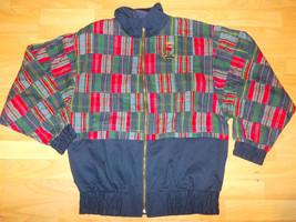 Blue Red Plaid long sleeve jacket Plaid Stripe designer Ivy league style... - $17.14