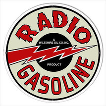 30×30 Reproduction Radio Gasoline Motor Oil Metal  Sign - $99.00