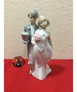 "Lladro Bride And Groom Figurine Statue Daisa 1994  ""Wedding Bells"" 8 1/2 - $100.00"