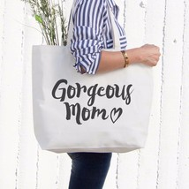 Gorgeous Mom Canvas Bag Mother's Day Gifts Cute Grocery Bag Tote bag For... - $21.25 CAD