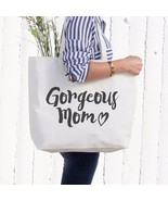 Gorgeous Mom Canvas Bag Mother's Day Gifts Cute Grocery Bag Tote bag For... - $15.99