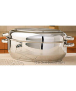 T304 Stainless Steel Multi-Baker Roasting Pan with Wire Rack 12-Element ... - $93.87
