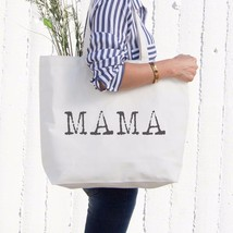 Mama Typewriter Canvas Bag Tote Diaper Book Grocery Bag For Mom Mother's... - $15.99