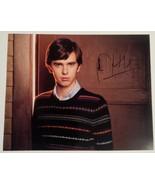 Freddie Highmore Hand Signed 8x10 Photo COA Bates Motel - $49.99