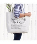 Omelet Recipe Canvas Bag Grocery Bag Diaper Bag Mothers Day Gifts For Moms - $15.99