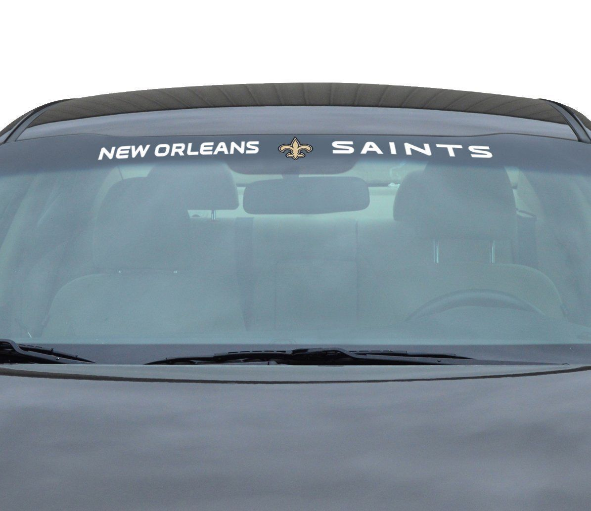 "NEW ORLEANS SAINTS 35"" X 4"" WINDSHIELD REAR WINDOW DECAL CAR TRUCK NFL FOOTBALL"