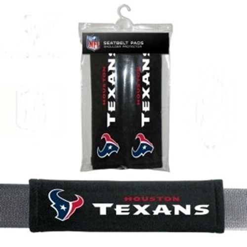 HOUSTON TEXANS 2 VELOUR SEATBELT LAPTOP BAG SHOULDER PADS NFL FOOTBALL
