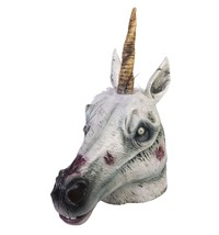 Zombie Unicorn Overhead Latex Halloween Costume Mask One Size - $34.58