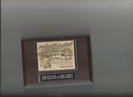 John Sullivan Vs James Corbett Poster Plaque Boxing - $2.96