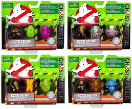 Ghostbusters Movie Ecto Minis Complete Set of 4, 3 Packs Each w/Exclusiv... - $47.95