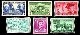 1949 Year Set of 6 Commemorative Stamps Mint NH - Stuart Katz - $5.50