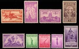 1940 Year Set of 9 Commemorative Stamps Mint NH - Stuart Katz - $7.95