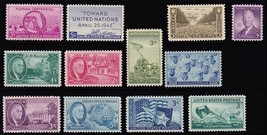 1945 Year Set of 12 Commemorative Stamps Mint NH - Stuart Katz - $5.50