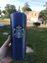 """Starbucks Stainless Steel Tumbler Blue With Yellow Straw """"Dory"""" Hard To ... - $69.30"""