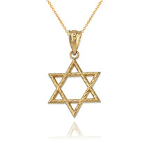 Gold Star of David Charm Necklace - $69.99+