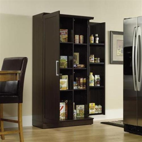 Large Kitchen Storage Cabinets: Large Kitchen Cabinet Storage Food Pantry Wooden Shelf