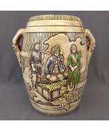 Ceramic Pirate Ship & Treasure Booty Tiki Vase Barrel Vessel Urn Crock 1... - $48.33