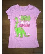 ! childrens place pink dino cupcake graphic tee shirt medium 7 - 8 - $5.94