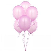 "25 Latex Balloons 12"" When Inflated Solid Colors - Pink - $2.96"