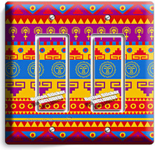 LATIN AMERICAN SOUTHWEST AZTEC DOUBLE GFI LIGHT SWITCH WALL PLATE ROOM A... - $10.79