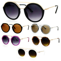 SA106 Womens Metal Brow Bridge Round Unique Aviator Sunglasses - $12.95