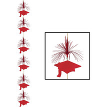 Red graduation Cap Hanging Firework Stinger danglers grad hat whirls 7 ft. - $7.87
