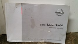2013 Nissan Maxima Owners Manual by Nissan - $29.69