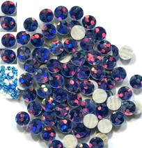 HOLOGRAM SPANGLES Hot Fix  PEACOCK  Iron on  5mm 1 gross - $4.49