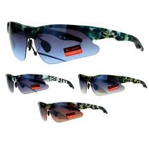 Xloop Mens Camouflage Baseball Half Rim Sport Hunters Warp Sniper Sunglasses - $10.95