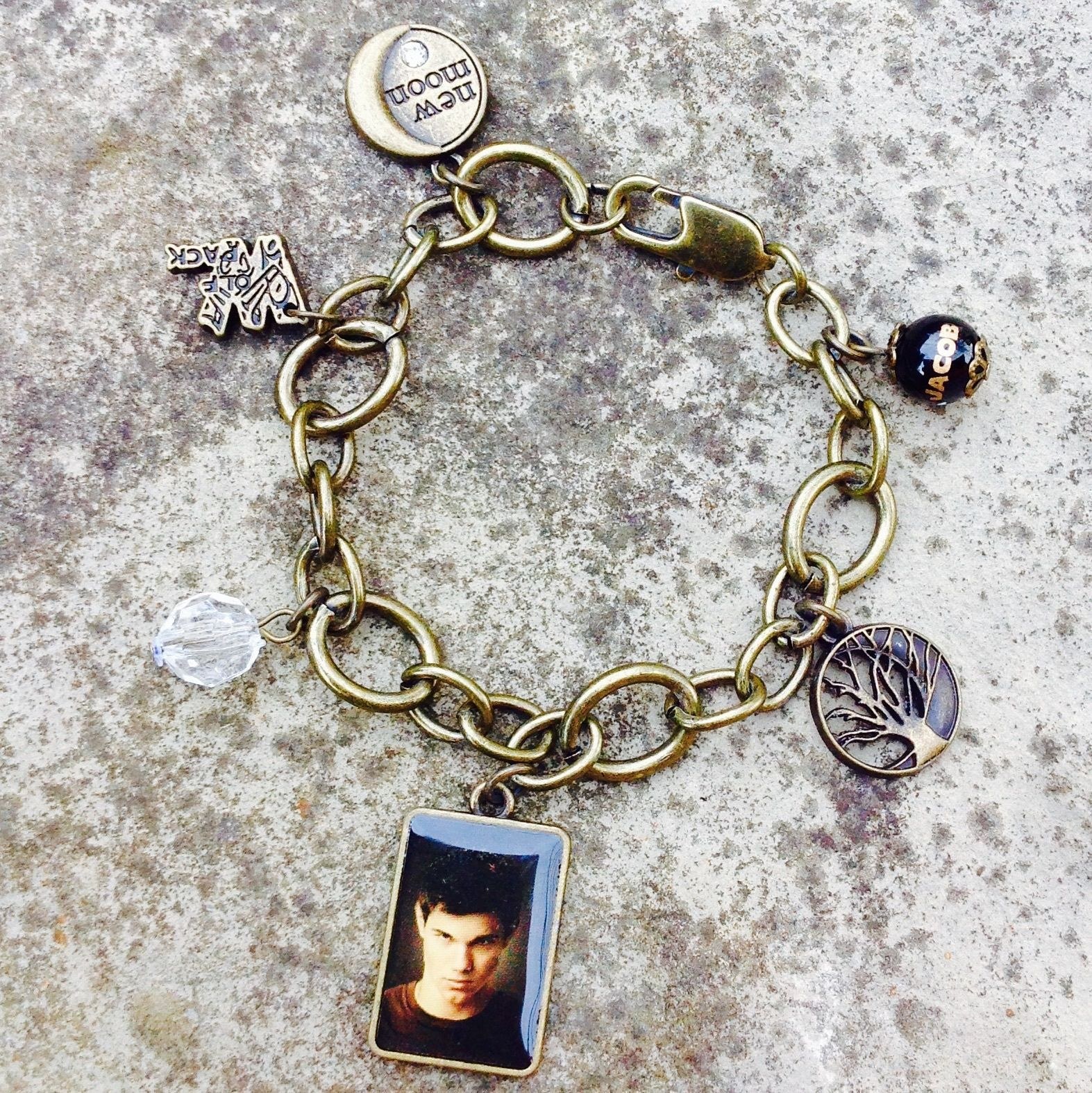 Twilight New Moon  Jacob Chunky Charm Bracelet