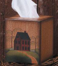 Primitive Tissue Box Cover Paper Mache' 3TB004-Primitive Home Tissue Box  - $7.95