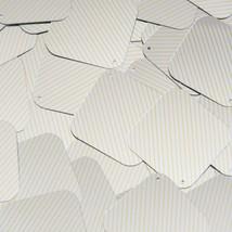 "Sequin Square Diamond 1.5"" Yellow Silver Pinstripe Pattern Metallic Couture Pail - $14.97"