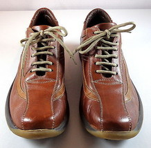 Alfani Italy Brown Leather Oxfords Mens 8.5 M Lace Up Shoes  - $59.95