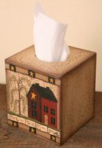 Primitive Tissue Box Cover Paper Mache' 3TB022-Love Live Laugh  - $7.95