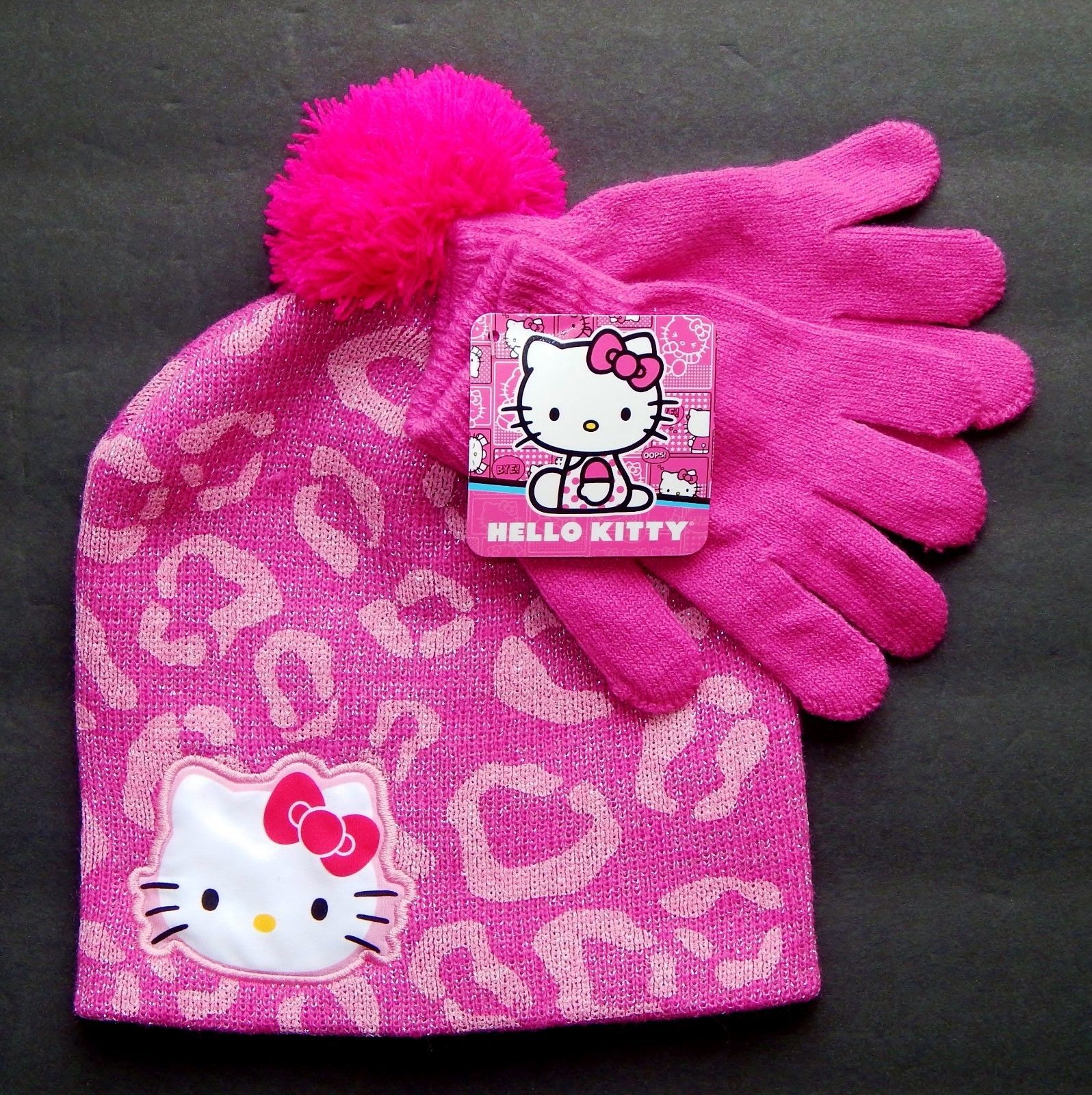 8e6e871a72e Hello Kitty Sanrio Pink Knit Beanie Winter and 12 similar items. S l1600