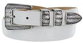 Monte Verde Italian Calfskin Leather Designer Dress Belts for Men(34, Alligat... - $29.20