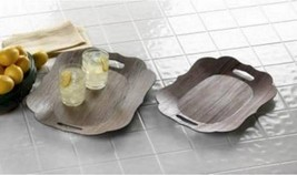 15177 SHIPS FREE Accent Plus Scalloped Edge Serving Tray Set - $15.93