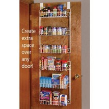 Over The Door 6 Shelf shelves Storage hanging space Rack Kitchen Home Or... - $33.61