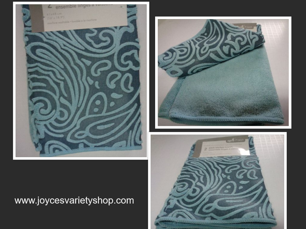 Blue hand towel set collage