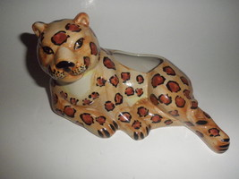 leopard flower planter 8 inches long 5 inches tall - €13,11 EUR