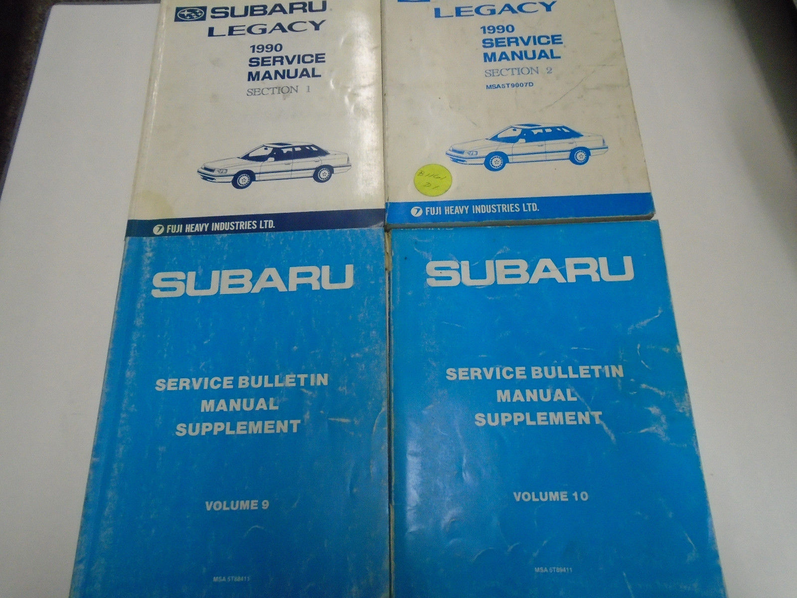 1990 Subaru Legacy Service Repair Shop Manual SET Books Incomplete FACTORY OEM