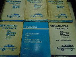 1991 Subaru Legacy Service Repair Shop Manual SET FACTORY OEM Books Inco... - $97.96