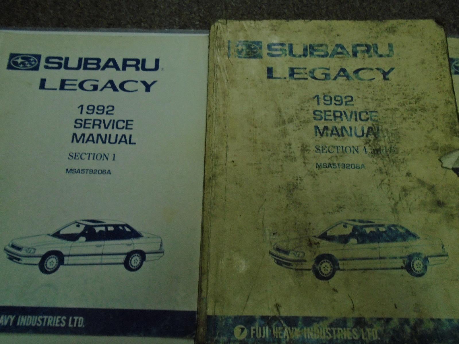 1992 Subaru Legacy Service Repair Shop Manual SET FACTORY OEM Books Incomplete