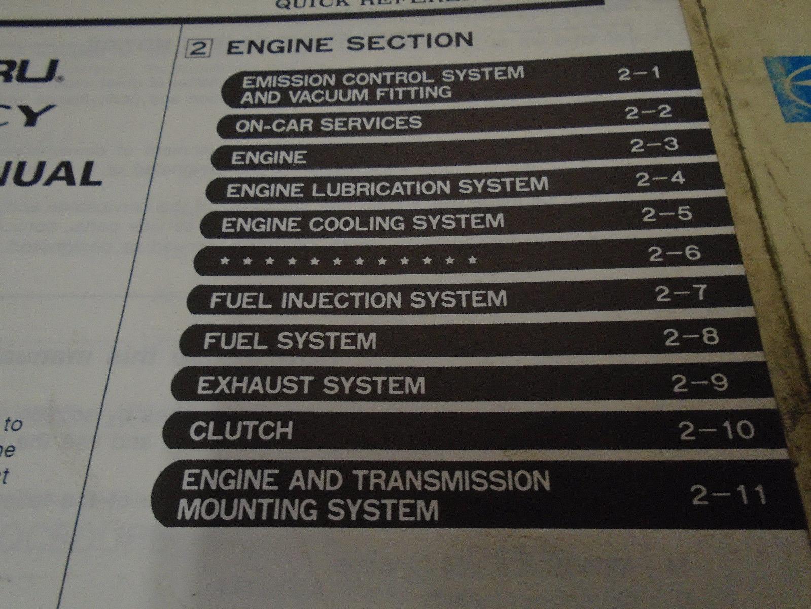 1991 Subaru Legacy Service Repair Shop Manual SET FACTORY OEM Books Incomplete